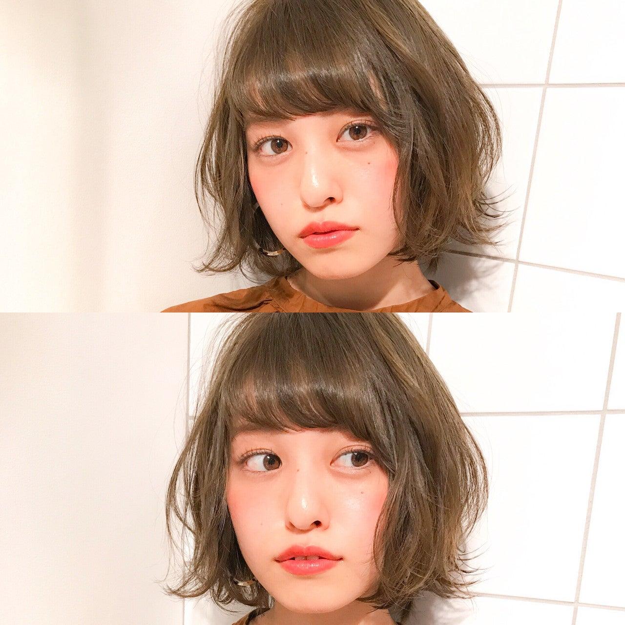 ベース 顔 前髪 【ベース型さん向け前髪】たった2つのポイントで小顔になれる♡