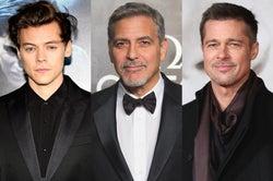 左から:ハリー・スタイルズ、ジョージ・クルーニー、ブラッド・ピット/photo by Getty Images