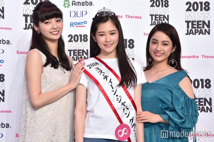 (左から)新川優愛、佐藤梨紗子さん、平祐奈 (C)モデルプレス