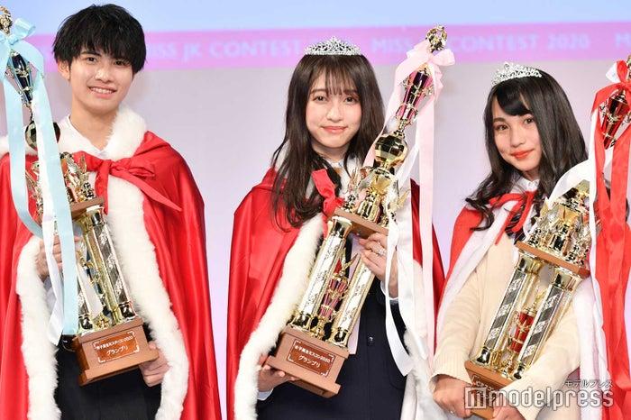 男子高生ミスターコングランプリ・中野晴仁くん、女子高生ミスコングランプリ・ひっか、JCミスコングランプリ・JURI (C)モデルプレス