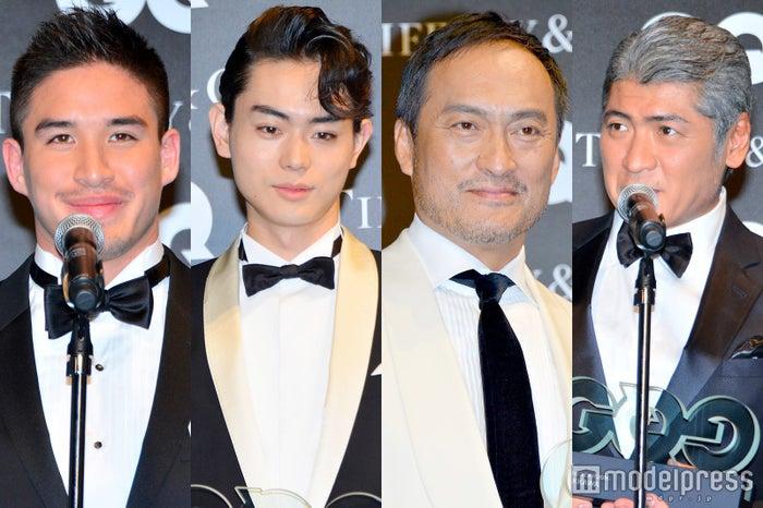 (左から)ベイカー茉秋、菅田将暉、渡辺謙、吉川晃司 (C)モデルプレス