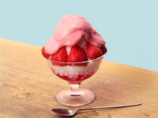 イチゴづくしがたまらない♡「ふわっ」「とろける」新食感のかき氷「bib baR」
