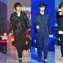 東京ランウェイにイケメンが集結(左から)吉沢亮、山崎賢人、千葉雄大、山本裕典【モデルプレス】