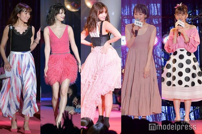 (左から)加藤玲奈、マギー、小嶋陽菜、吉岡里帆、齋藤飛鳥(C)モデルプレス