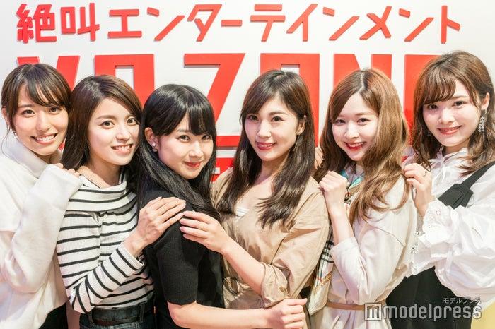 (左から)則武香月さん、石木杏奈さん、神崎未来さん、飯山友衣名さん、遠藤沙和子さん、小林玲美さん(C)モデルプレス