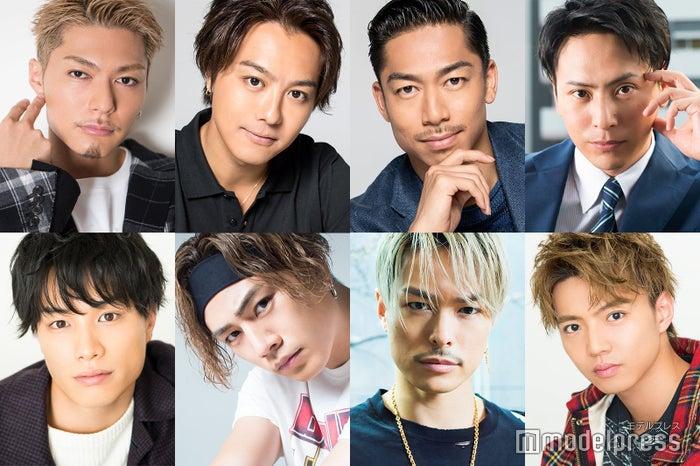 (上段左から時計回りに)SHOKICHI、TAKAHIRO、AKIRA、山下健二郎、佐藤大樹、今市隆二、登坂広臣、鈴木伸之 (C)モデルプレス