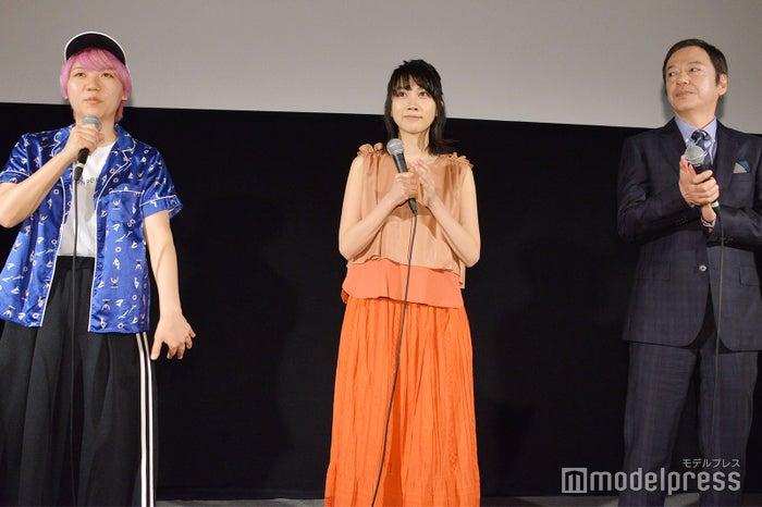 (左から)ふくだももこ監督、松本穂香、板尾創路 (C)モデルプレス