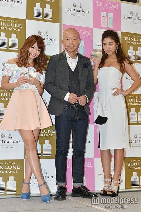 (左から)鈴木あや、「バイきんぐ」の小峠英二、今井華