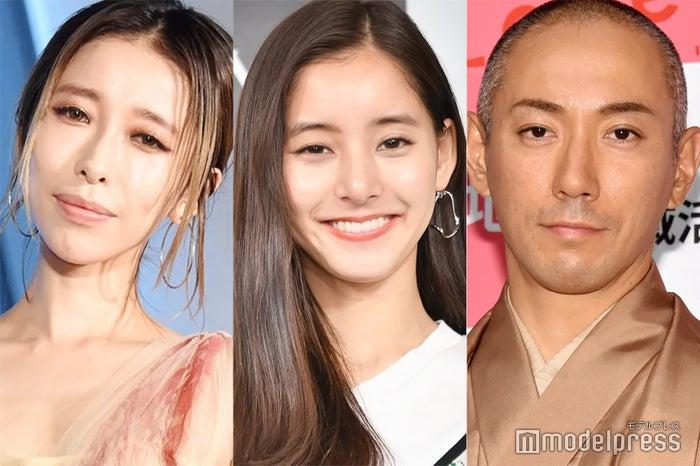 (左から)加藤ミリヤ、新木優子、市川海老蔵(C)モデルプレス