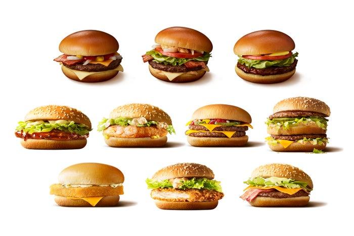 レギュラーバーガー10種、どれを合わせる?