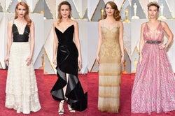 <第89回アカデミー賞>エマ・ストーンら豪華女優が胸元ざっくり、美背中披露…レッドカーペット彩るドレス姿を一挙紹介
