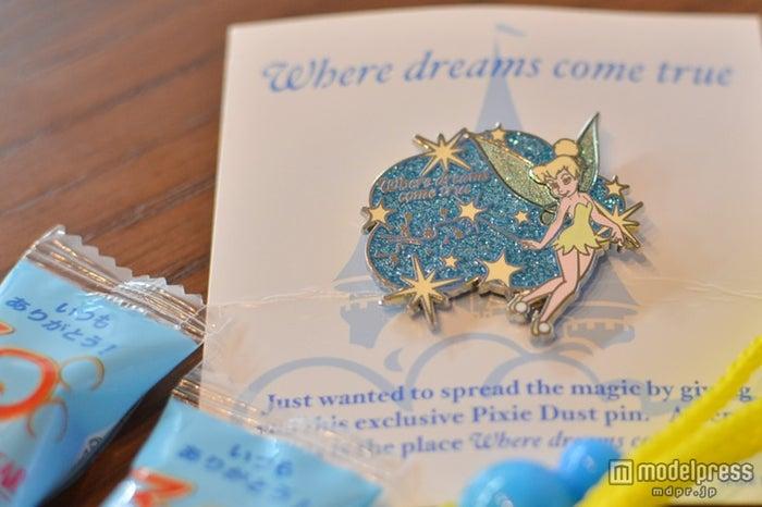 サンクスデー/ティンカーベルのピンバッチはウォルト・ディズニー・アトラクションズ・ジャパンからの特別な贈り物
