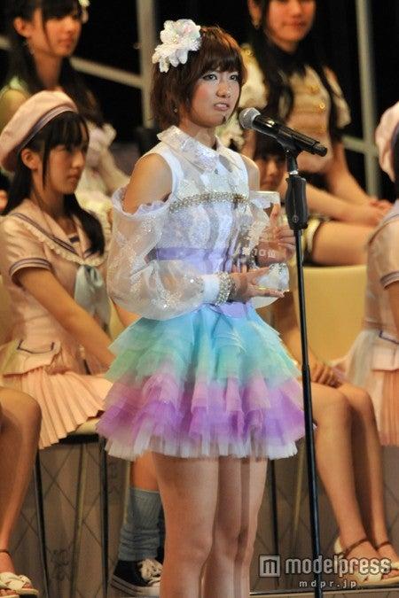 「第5回AKB48選抜総選挙」で10位にランクインしたSNH48の宮澤佐江