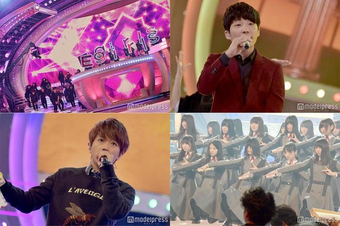 リハーサルを行うE-girls、星野源、AAAの西島隆弘、欅坂46 (C)モデルプレス