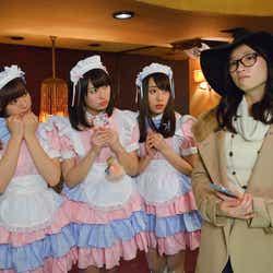 (左から)生田衣梨奈、佐々木彩夏、藤江れいな、相楽樹 (C)テレビ東京