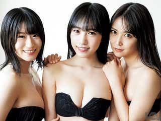 NMB48白間美瑠・上西怜・横野すみれ、SEXY黒ビキニで美ボディ全開