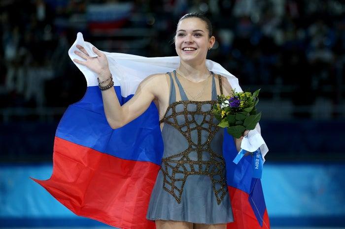 ソチ五輪金メダルのアデリーナ・ソトニコワ (Photo by Getty Images)