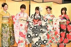 NMB48(左から)石塚朱莉、加藤夕夏、白間美瑠、内木志、古賀成美 (C)モデルプレス