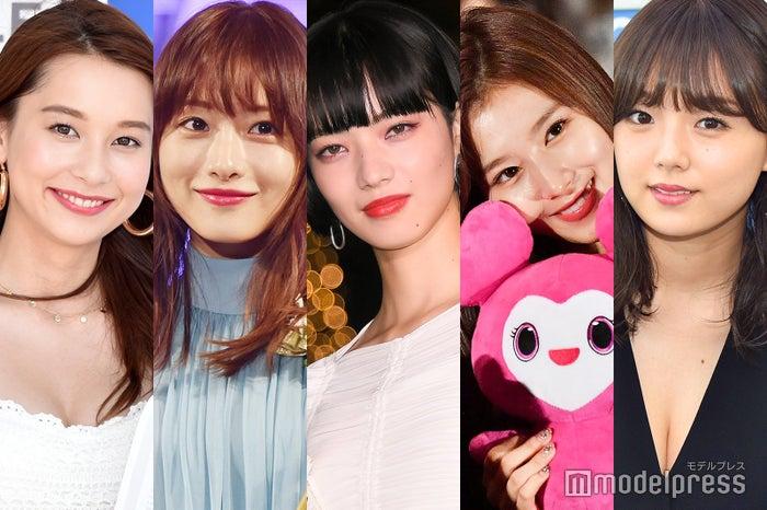 (左から)Niki、石原さとみ、小松菜奈、サナ、篠崎愛 (C)モデルプレス