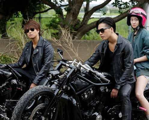映画「HiGH&LOW」続編、ヒロインに吉本実憂を抜てき 「雨宮兄弟」との3ショットも公開
