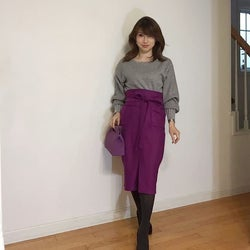 40代はキレイ色ボトムで上品に美人コーデ♪ 冬コーデが華やぐスカート&パンツの着こなし9選