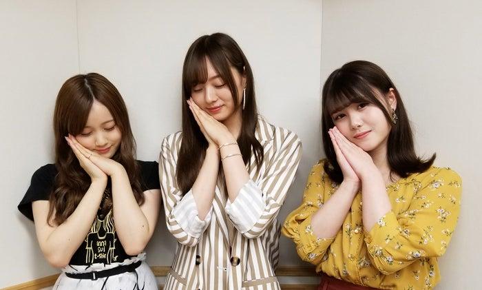 星野みなみ、梅澤美波、伊藤理々杏(画像提供:文化放送)
