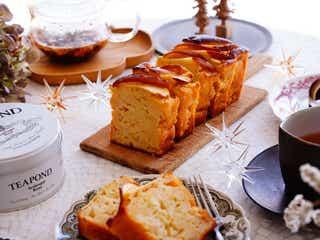 意外な組み合わせが絶妙なおいしさ!ホットケーキミックスで!リンゴとチーズのパウンドケーキ
