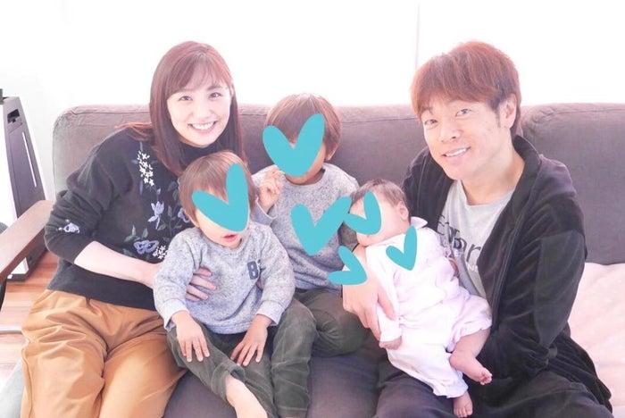 松村未央アナウンサー、陣内智則/牧村麻美オフィシャルブログ(Ameba)より
