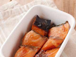 【作り置き】調味料2つで味付け。鮭のみりん漬け焼き