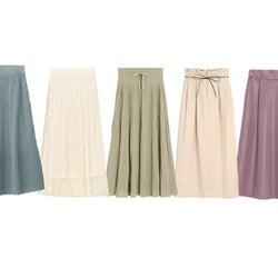 【GU】腰ハリ&太ももをカバー!即細見えする大人のロングスカート5選