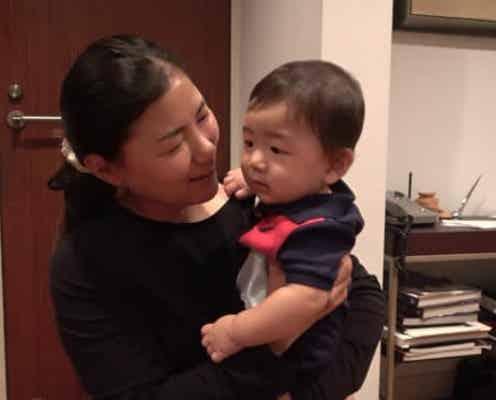 横峯さくら、2週間ぶりに息子と再会「いっぱい成長していました」