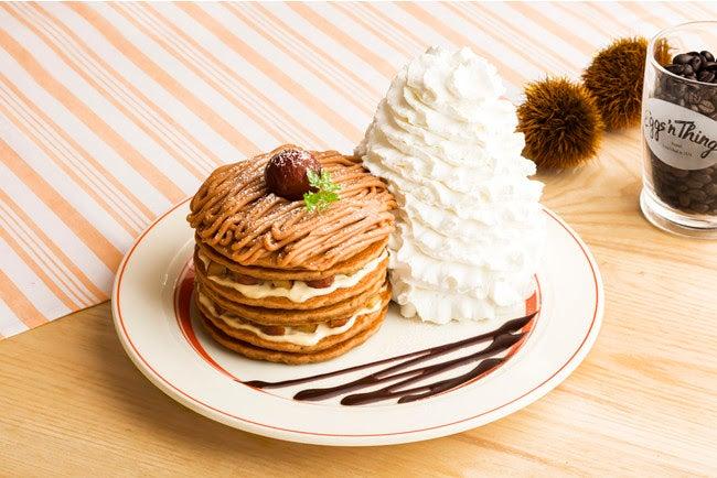 コナコーヒーとモンブランのパンケーキ/画像提供:Eggs'n Things Japan