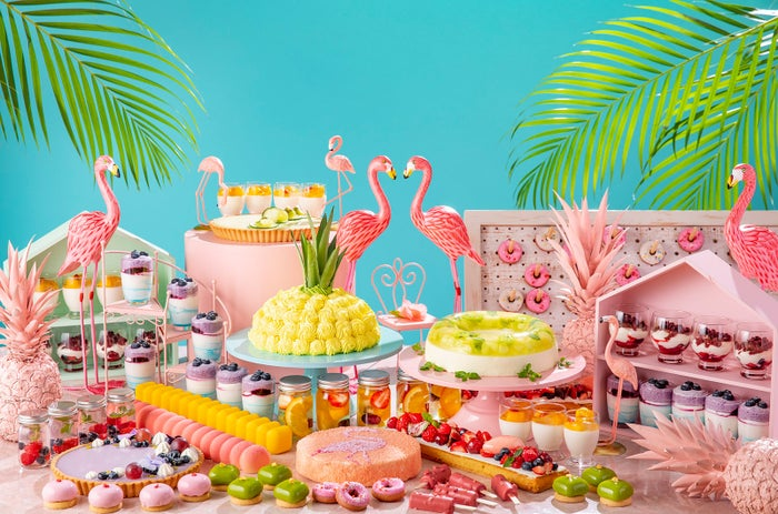 「トロピカル・フラミンゴパーティー ~サマーデザートビュッフェ~」開催/画像提供:名古屋ヒルトン