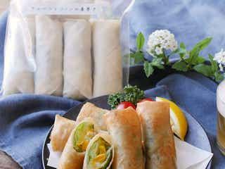 【作り置き冷凍レシピ】キャベツとコーンのチーズ春巻き