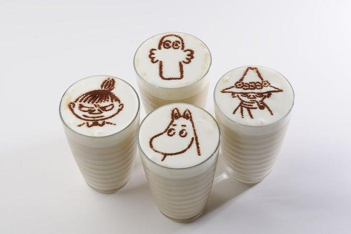 ムーミンラテ(ICE・HOT)各160$(台湾ドル)(C)Moomin Characters