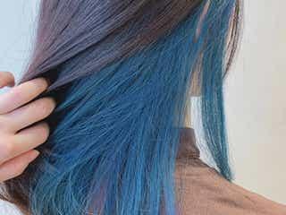 派手色は「インナーカラー」だから可愛い♡個性的な色に挑戦!