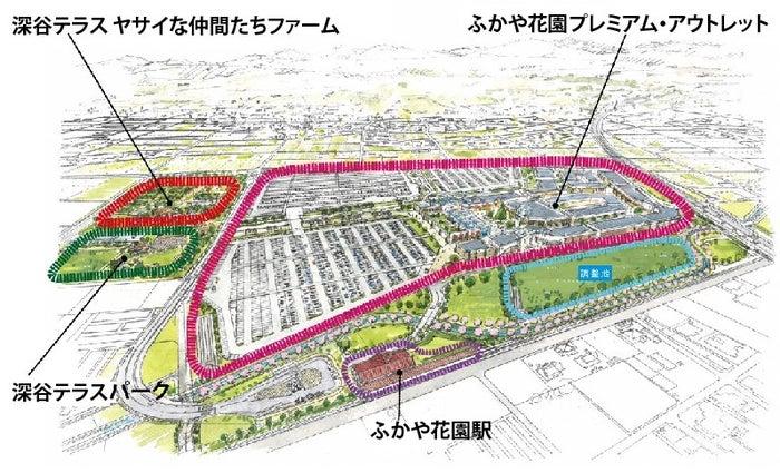 ふかや花園プレミアム・アウトレットイメージ/画像提供:三菱地所・サイモン