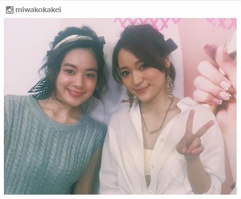 「テラスハウス」で共演した筧美和子とchayの2ショット/筧美和子Instagramより
