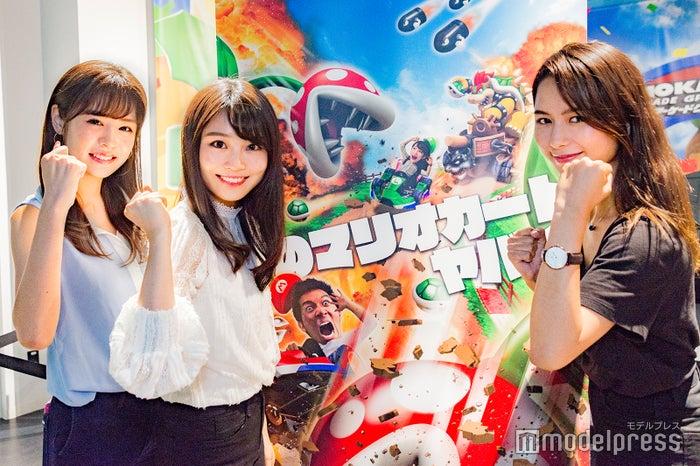 (左から)齊藤紫帆さん、篭嶋佑実さん、ヴァッツ美良さん(C)モデルプレス