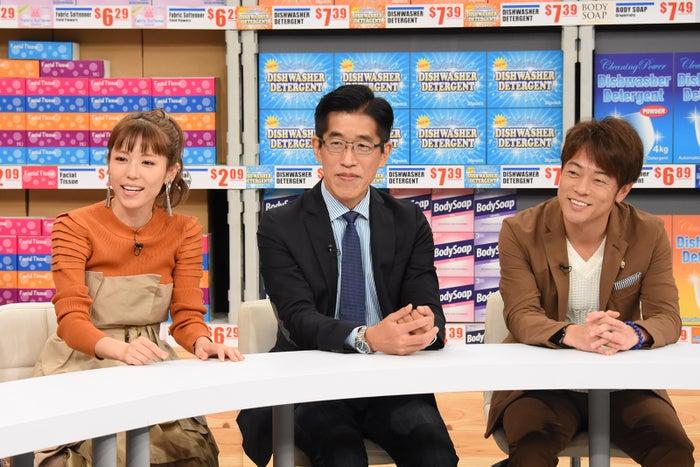(左から)若槻千夏、岸博幸、陣内智則 (C)日本テレビ