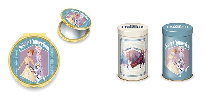 コンパクトミラー 1,200円、クランチチョコ(全2種) 各980円(C)Disney