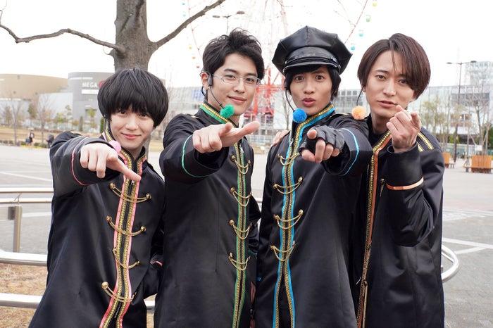 「ドルメンX」出演者(左から)小越勇輝、堀井新太、志尊淳、浅香航大 (C)日本テレビ