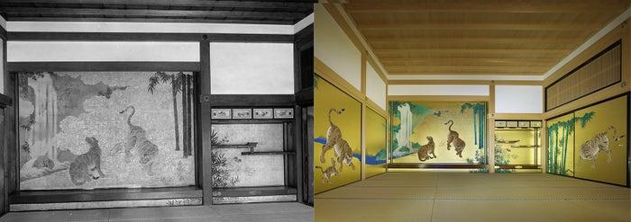 虎が出迎える玄関一之間/画像提供:名古屋市観光文化交流局名古屋城総合事務所