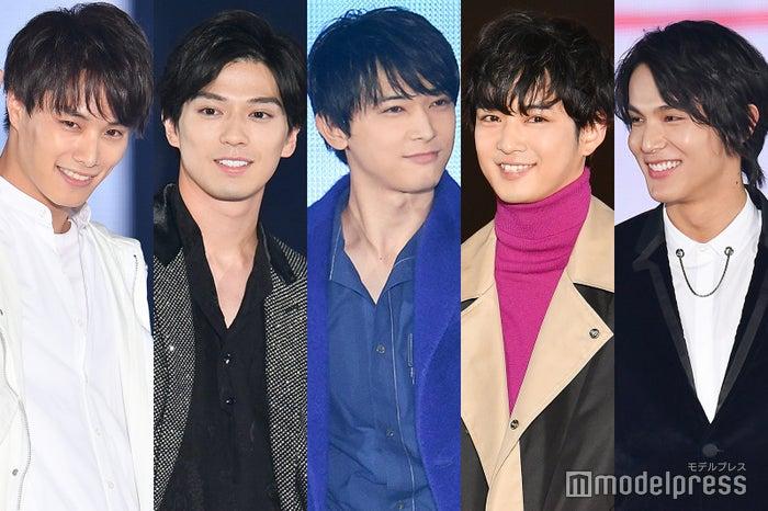 「GirlsAward 2019 A/W」に出演した(左から)鈴木伸之、新田真剣佑、吉沢亮、千葉雄大、中川大志 (C)モデルプレス