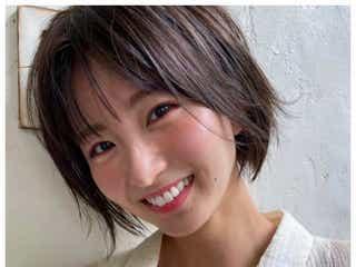 """岡崎紗絵、20cmカットで""""人生初""""ショートヘアに 「すごく似合ってる」「可愛すぎ」の声"""