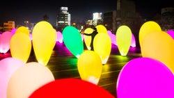 メッツァビレッジが光のアート空間に「森と湖の光の祭」開催
