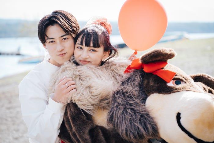 りゅうと、長谷川美月「恋とオオカミには騙されない」(C)AbemaTV, Inc.
