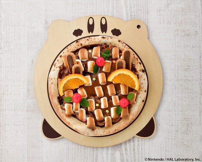 カービィカフェの窯焼きデザートピッツァ~カカオえきの車窓から~1,380円/画像提供:ベネリック