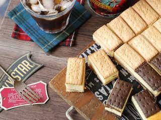 一口サイズが超可愛い!ビスコで作る「チーズケーキビスケットサンド」