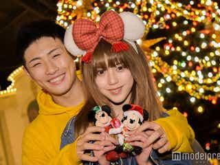 ディズニーランドでクリスマスデート「Popteen」ちゃんえな&K-1平本蓮カップルが体験!新キャッスルプロジェクション・デコレーションも登場<イベントレポ/写真特集>